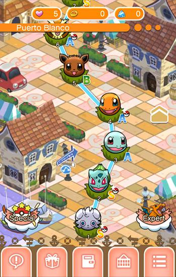 Kostenloses Android-Game Pokemon Shuffle Mobile. Vollversion der Android-apk-App Hirschjäger: Die Pokemon shuffle mobile für Tablets und Telefone.