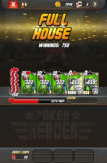 Screenshots von Poker heroes für Android-Tablet, Smartphone.