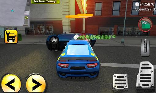 Screenshots of the Police agent vs mafia driver for Android tablet, phone.