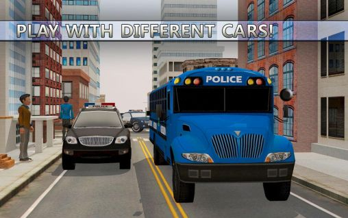 Police car suv and bus parking screenshot 2