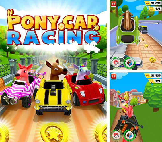 Pony craft unicorn car racing: Pony care girls