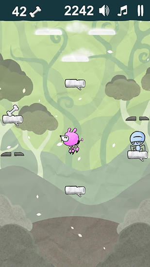 Screenshots von Poodle jump: Fun jumping games für Android-Tablet, Smartphone.