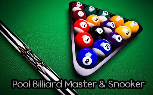 Pool billiard master and snooker poster