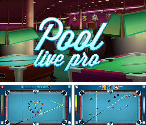 In addition to the game Snooker live pro for Android phones and tablets, you can also download Pool live pro: 8-ball and 9-ball for free.