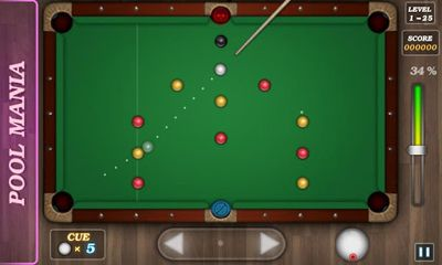 Screenshots of the Pool Mania for Android tablet, phone.