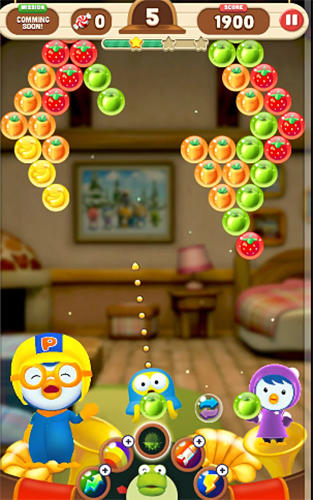 Kostenloses Android-Game Pororo: Der Kleine Pinguin. Bubble Shooter. Vollversion der Android-apk-App Hirschjäger: Die Pororo: The little penguin. Bubble shooter für Tablets und Telefone.