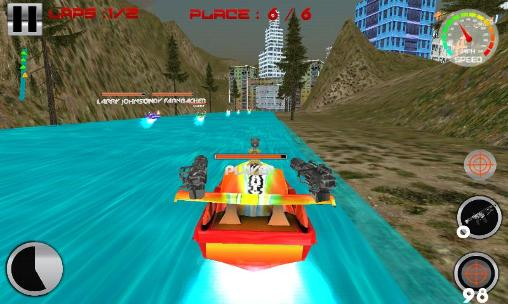 Power boat: War race 3D скриншот 2