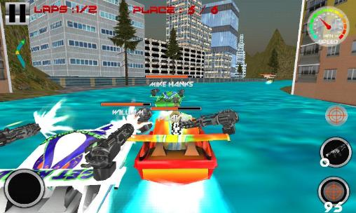 Screenshots von Power boat: War race 3D für Android-Tablet, Smartphone.