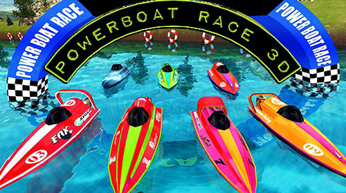 Powerboat race 3D poster