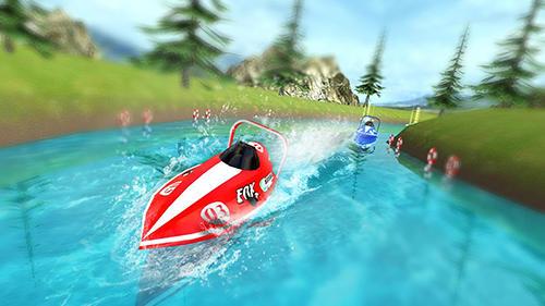 Powerboat race 3D screenshot 1