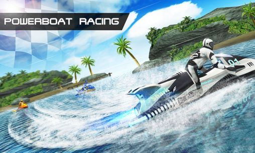 Powerboat racing poster