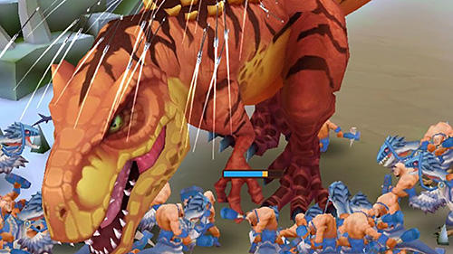 Screenshots do Primal wars: Dino age - Perigoso para tablet e celular Android.