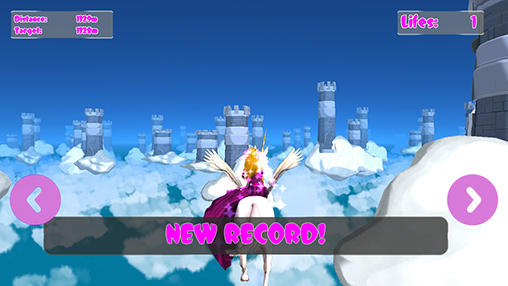 Screenshots von Princess unicorn: Sky world run für Android-Tablet, Smartphone.