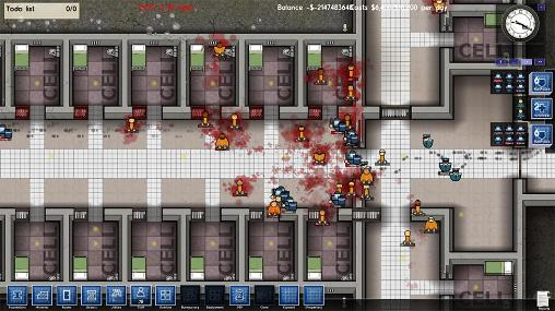 Screenshots of the Prison architect for Android tablet, phone.