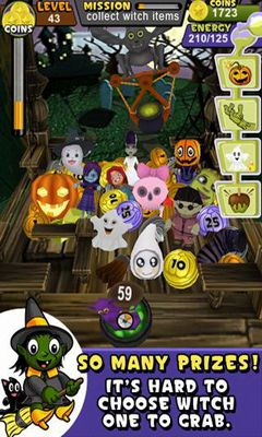 Screenshots of the Prize Claw: Halloween for Android tablet, phone.
