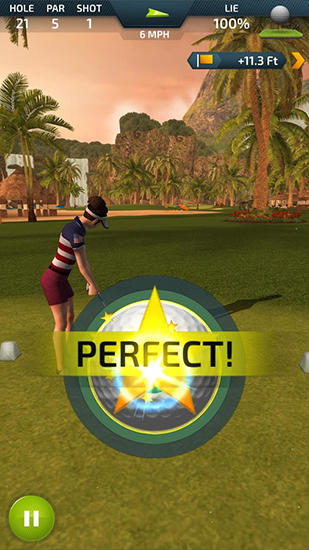 Screenshots von Pro feel golf für Android-Tablet, Smartphone.