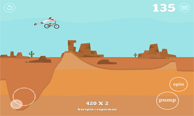 Screenshots of the Pumped BMX for Android tablet, phone.