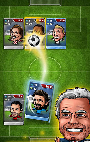 Скріншот гри Puppet football card manager CCG на Андроїд планшет і телефон.