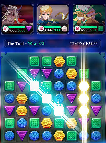 Capturas de pantalla de Puzzle fantasy battles: Match 3 adventure games para tabletas y teléfonos Android.