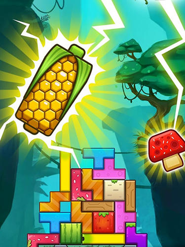 Puzzle stack: Fruit tower blocks game screenshot 1