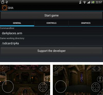 In addition to the game Heretic GLES for Android phones and tablets, you can also download QI4A - Darkplaces for free.