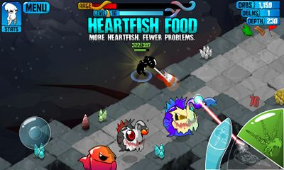 Screenshots of the Quadropus Rampage for Android tablet, phone.