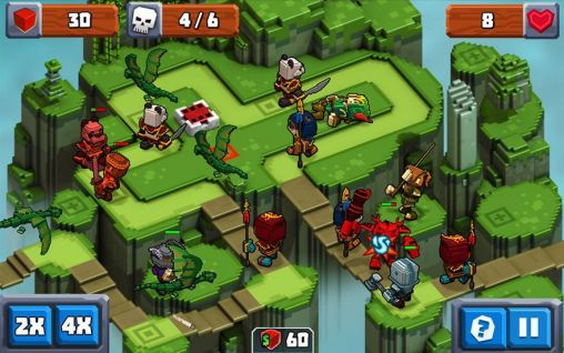 Screenshots do Qube kingdom - Perigoso para tablet e celular Android.