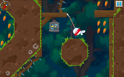 Screenshots von Rabbit samurai: Rope swing hero für Android-Tablet, Smartphone.