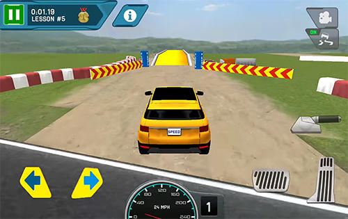 Screenshots von Race driving school: Test car racing für Android-Tablet, Smartphone.
