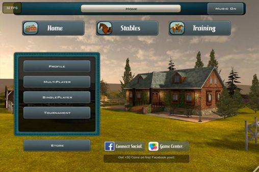 Screenshots von Race horses champions 2 für Android-Tablet, Smartphone.