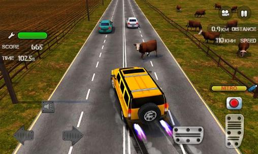 Juega a Race the traffic nitro para Android. Descarga gratuita del juego Carreras a través del trafico: Nitro.