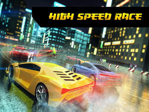 Racer: Tokyo. High speed race: Racing need poster