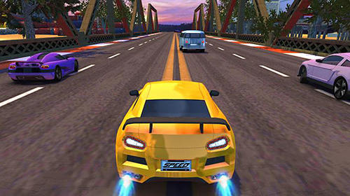 Screenshots do Racing car: City turbo racer - Perigoso para tablet e celular Android.