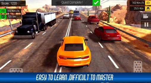 Racing in traffic screenshot 1