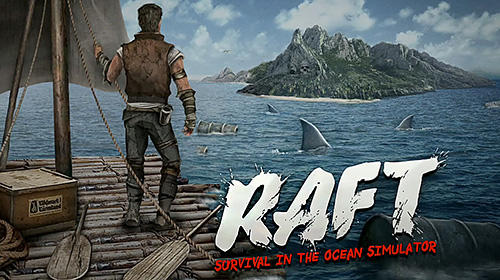 Raft survival in the ocean simulator poster