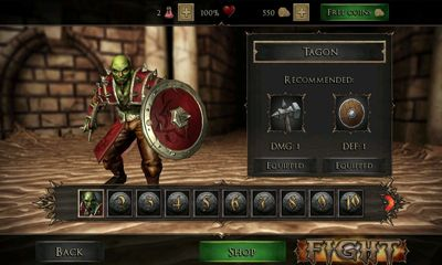 Kostenloses Android-Game Wut des Gladiators. Vollversion der Android-apk-App Hirschjäger: Die Rage of the Gladiator für Tablets und Telefone.