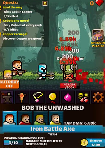 Raid away! RPG idle clicker screenshot 2