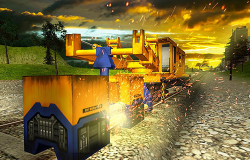 Kostenloses Android-Game Eisenbahnbau Simulator. Vollversion der Android-apk-App Hirschjäger: Die Railroad building simulator: Build railroads! für Tablets und Telefone.