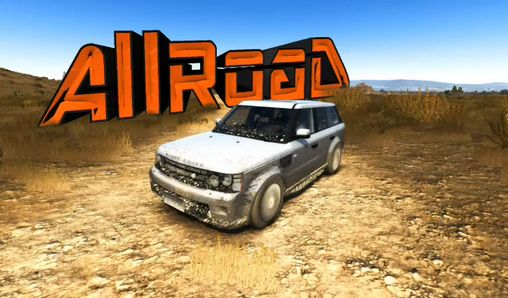 Rally SUV racing. Allroad 3D poster