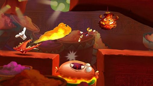 Screenshots of the Rayman: Fiesta Run for Android tablet, phone.