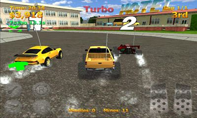 Screenshots of the RC Mini Racers for Android tablet, phone.