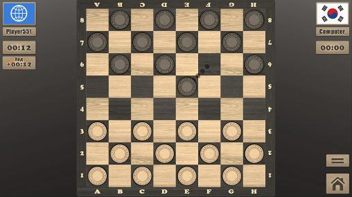Screenshots of the Real checkers for Android tablet, phone.