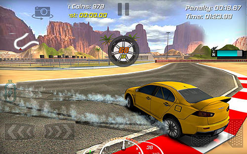 Геймплей Real drift car racer для Android телефону.