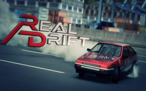 Real drift car racing poster