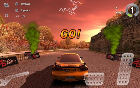 Геймплей Real drift car racing v3.6 для Android телефону.