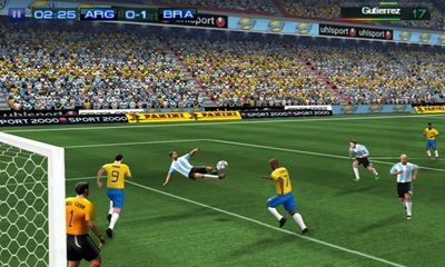 Screenshots of the Real Football 2011 for Android tablet, phone.