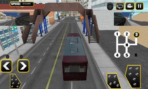 Kostenloses Android-Game Echter 3D Bussimulator mit Gangschaltung. Vollversion der Android-apk-App Hirschjäger: Die Real manual bus simulator 3D für Tablets und Telefone.
