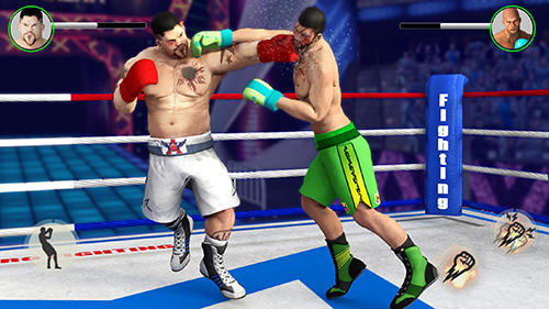 Screenshots von Real punch boxing super star: World fighting hero für Android-Tablet, Smartphone.