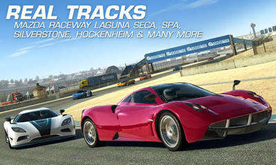 Jogue Real racing 3 para Android. Jogo Real racing 3 para download gratuito.