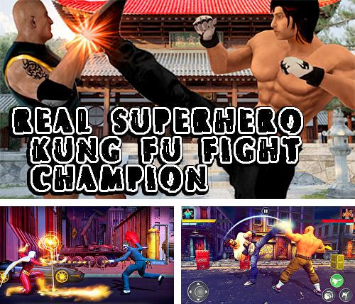 Real superhero kung fu fight champion